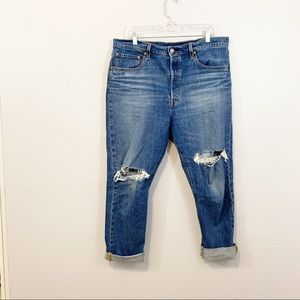 REVOLVE 501 S Levi's Jeans High Waist Raw Hem 14